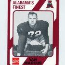 1989 Alabama Coke 580 Football #298 Van Marcus - Alabama Crimson Tide