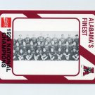 1989 Alabama Coke 580 Football #277 The 1926 National Champions