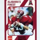 1989 Alabama Coke 580 Football #273 David Smith - Alabama Crimson Tide