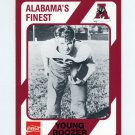 1989 Alabama Coke 580 Football #268 Young Boozer - Alabama Crimson Tide