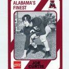 1989 Alabama Coke 580 Football #266 Joe Curtis - Alabama Crimson Tide