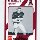 1989 Alabama Coke 580 Football #262 Ed Versprille - Alabama Crimson Tide