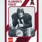 1989 Alabama Coke 580 Football #255 Norman Mosley - Alabama Crimson Tide