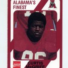 1989 Alabama Coke 580 Football #254 Curtis McGriff - Alabama Crimson Tide