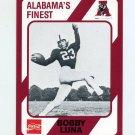 1989 Alabama Coke 580 Football #250 Bobby Luna - Alabama Crimson Tide