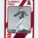 1989 Alabama Coke 580 Football #242 Scott Hunter - Alabama Crimson Tide