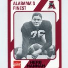 1989 Alabama Coke 580 Football #240 Herb Hannah - Alabama Crimson Tide