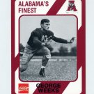1989 Alabama Coke 580 Football #234 George Weeks - Alabama Crimson Tide