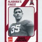 1989 Alabama Coke 580 Football #229 Dave Brown - Alabama Crimson Tide