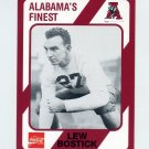 1989 Alabama Coke 580 Football #227 Lew Bostick - Alabama Crimson Tide