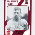1989 Alabama Coke 580 Football #222 Herschel Caldwell - Alabama Crimson Tide