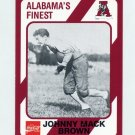 1989 Alabama Coke 580 Football #219 Johnny Mack Brown - Alabama Crimson Tide