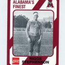 1989 Alabama Coke 580 Football #216 Riggs Stephenson - Alabama Crimson Tide