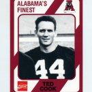 1989 Alabama Coke 580 Football #207 Ted Cook - Alabama Crimson Tide