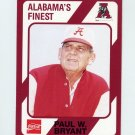 "1989 Alabama Coke 580 Football #200 Paul ""Bear"" Bryant CO - Alabama Crimson Tide"