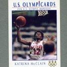 1992 Impel U.S. Olympic Hopefuls #022 Katrina McClain / Women's Basketball