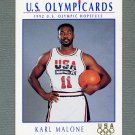 1992 Impel U.S. Olympic Hopefuls #013 Karl Malone / Men's Basketball