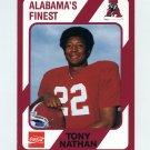 1989 Alabama Coke 580 Football #189 Tony Nathan - Alabama Crimson Tide