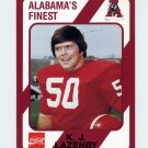 1989 Alabama Coke 580 Football #186 K.J. Lazenby - Alabama Crimson Tide