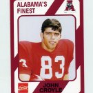 1989 Alabama Coke 580 Football #180 John Croyle - Alabama Crimson Tide
