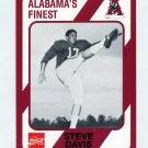1989 Alabama Coke 580 Football #175 Steve Davis - Alabama Crimson Tide