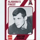 1989 Alabama Coke 580 Football #173 Wayne Cook - Alabama Crimson Tide