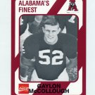 1989 Alabama Coke 580 Football #171 Gaylon McCollough - Alabama Crimson Tide