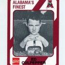 1989 Alabama Coke 580 Football #166 Ed Culpepper - Alabama Crimson Tide