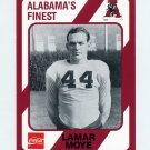 1989 Alabama Coke 580 Football #162 Lamar Moye - Alabama Crimson Tide