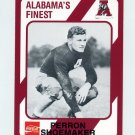 1989 Alabama Coke 580 Football #152 Perron Shoemaker - Alabama Crimson Tide