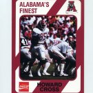 1989 Alabama Coke 580 Football #149 Howard Cross - Alabama Crimson Tide
