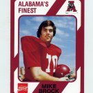 1989 Alabama Coke 580 Football #135 Mike Brock - Alabama Crimson Tide
