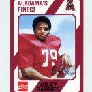 1989 Alabama Coke 580 Football #134 Wiley Barnes - Alabama Crimson Tide