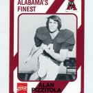1989 Alabama Coke 580 Football #130 Alan Pizzitola - Alabama Crimson Tide