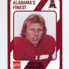1989 Alabama Coke 580 Football #128 Wayne Rhodes - Alabama Crimson Tide