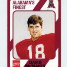 1989 Alabama Coke 580 Football #122 David McMakin - Alabama Crimson Tide