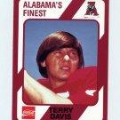1989 Alabama Coke 580 Football #116 Terry Davis - Alabama Crimson Tide