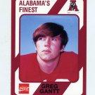 1989 Alabama Coke 580 Football #115 Greg Gantt - Alabama Crimson Tide