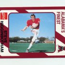 1989 Alabama Coke 580 Football #113 Steve Higginbotham - Alabama Crimson Tide