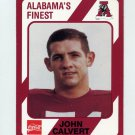 1989 Alabama Coke 580 Football #107 John Calvert - Alabama Crimson Tide