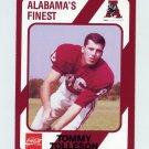 1989 Alabama Coke 580 Football #105 Tommy Tolleson - Alabama Crimson Tide