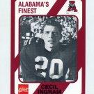 1989 Alabama Coke 580 Football #102 Hootie Ingram - Alabama Crimson Tide