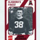 1989 Alabama Coke 580 Football #096 John Wozniak - Alabama Crimson Tide