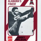 1989 Alabama Coke 580 Football #093 Jimmy Nelson - Alabama Crimson Tide