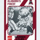 1989 Alabama Coke 580 Football #079 Warren Lyles - Alabama Crimson Tide