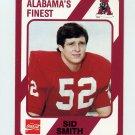 1989 Alabama Coke 580 Football #072 Sid Smith - Alabama Crimson Tide
