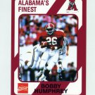 1989 Alabama Coke 580 Football #070 Bobby Humphrey - Alabama Crimson Tide