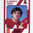 1989 Alabama Coke 580 Football #069 David Knapp - Alabama Crimson Tide