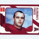 1989 Alabama Coke 580 Football #067 Bobby Swafford - Alabama Crimson Tide