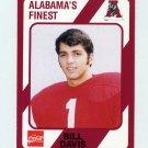 1989 Alabama Coke 580 Football #063 Bill Davis - Alabama Crimson Tide